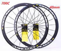 Road Bike Bicycle Ultralight 700c 40mm V Brake Disc Brake Wheels Aluminum Alloy Bicycle Wheelset Rims