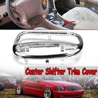 Centro do carro shifter guarnição capa moldura quadro para mercedes para benz c classe w203 c230 c240 c320 d106 2032671988|Estilo de cromo| |  -