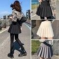 Women Pleated Skirt Mini Skirts Womens 2021 Spring Summer Korean Fashion High Waist Casual Skirts Kawaii Black White Skirts