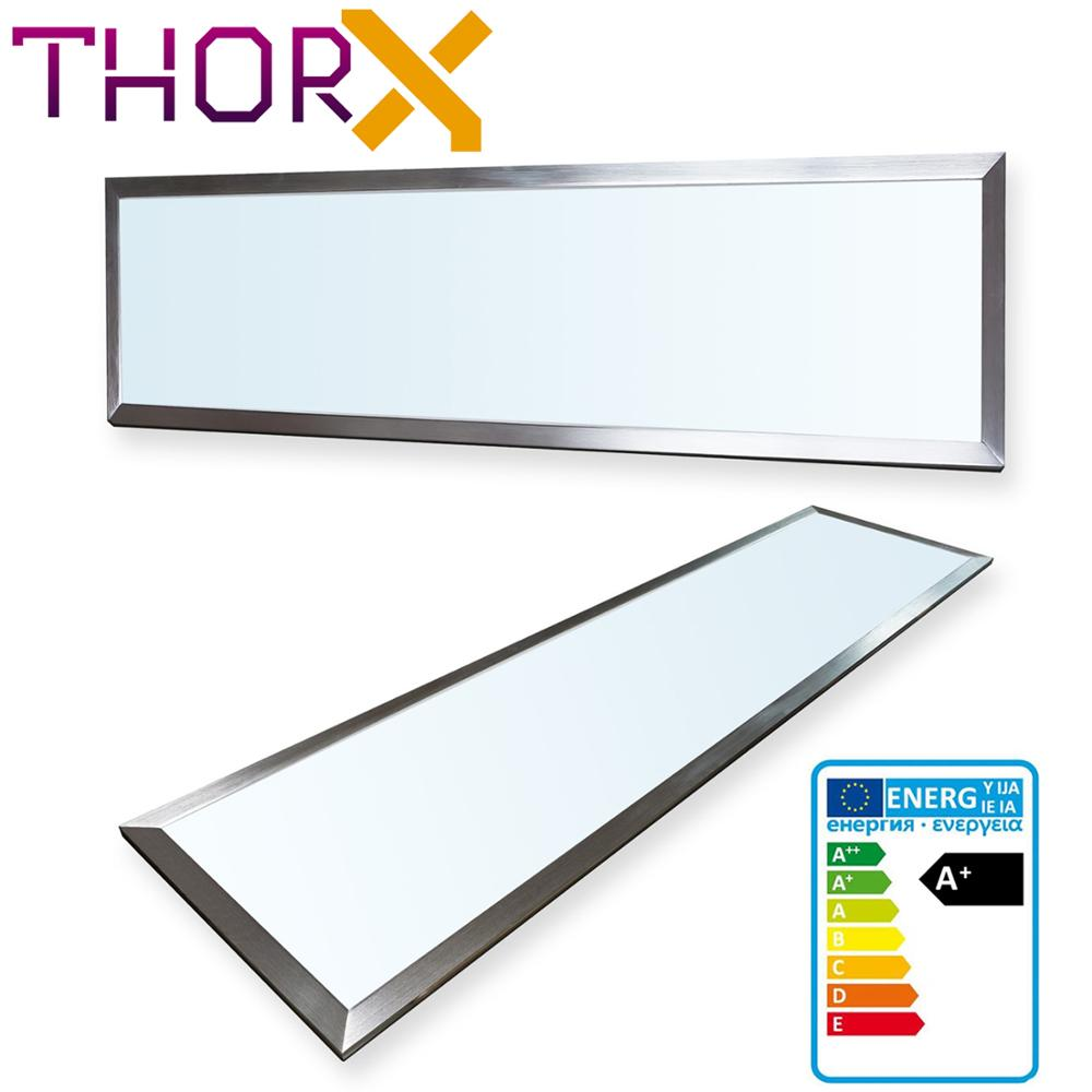 ThorX 120x30 Cm Ultraslim LED Panel  - 36W, 3000lm With Mounting Clips And Led Driver 100-240V, Cold / Warm / Neutral White