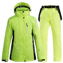 30 °c зеленый Цвета женские/мужские зимние лыжный костюм для