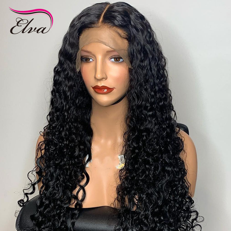 Pre Plucked Human Hair Lace Front Wigs For Black Women 13x6 Bleached Knots Wigs With Baby Hair Curly Lace Front Wig Elva Hair