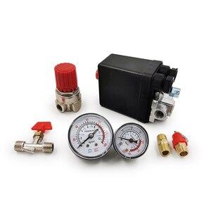 Image 5 - 240V AC רגולטור כבד החובה אוויר מדחס משאבת לחץ בקרת מתג 4 יציאת אוויר משאבת שסתום בקרת 90 120PSI עם מד