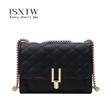 ISXTW Luxury Lady Handbag 2019 High Quality Leather Shoulder Bag Famous Designer Wild Chain Rhombic Female Diagonal Package/A57