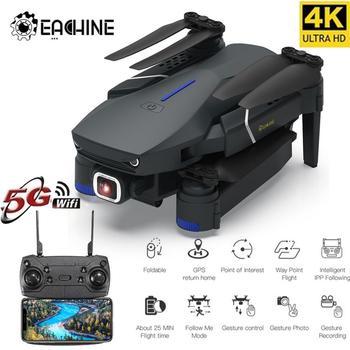Eachine E520 E520S WIFI FPV z kamerą szerokokątną 4K 1080P HD tryb wysokiego trzymania składany zdalnie sterowany dron Quadcopter RTF tanie i dobre opinie Metal Z tworzywa sztucznego as show 15*11*7 5cm Mode2 Silnik szczotki 4 kanałów Original Box Batteries Operating Instructions