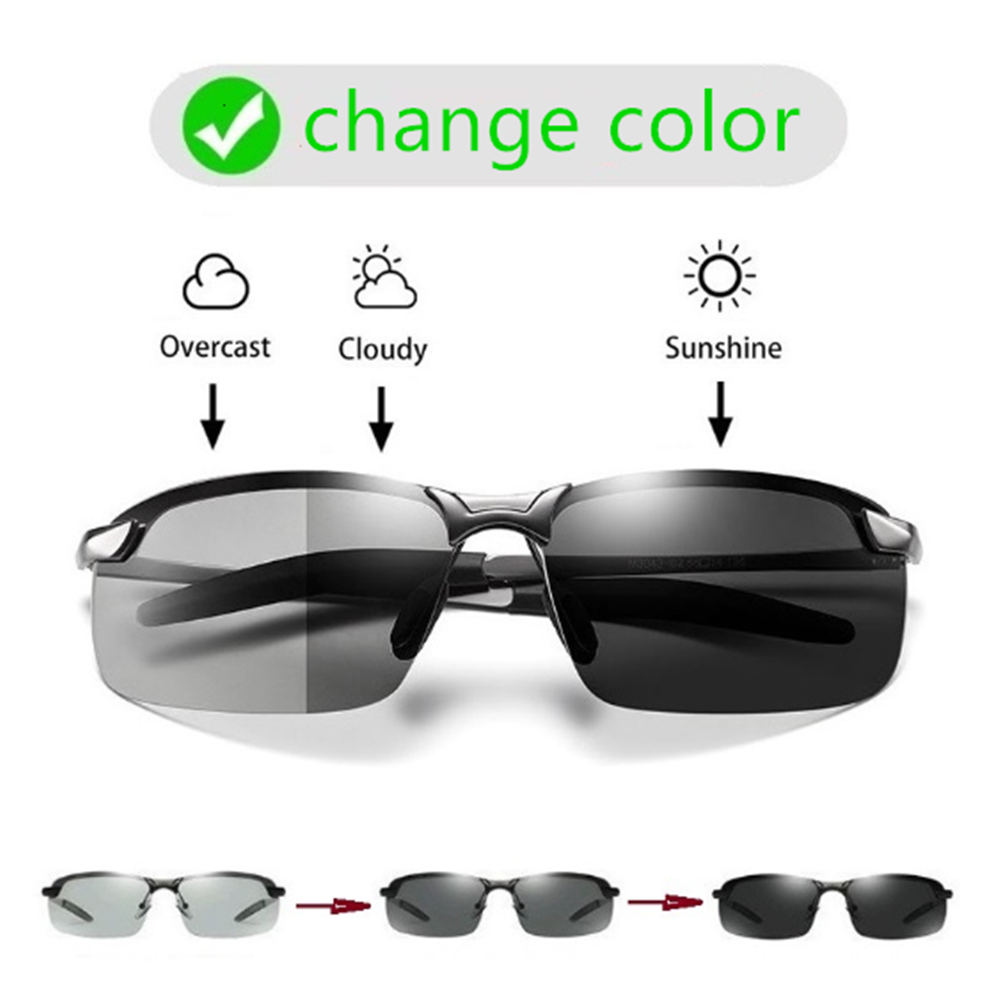 Fashion Color Changing Polarized Sunglasses Men Anti UV Sunglasses Women Day And Night Glasses