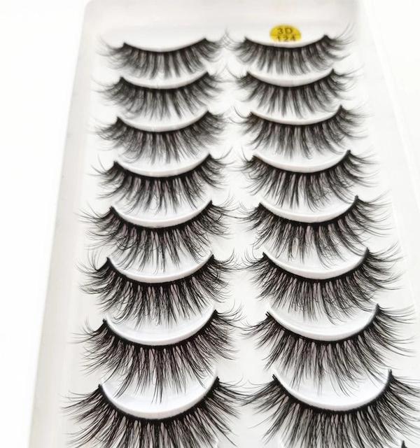 New 5/10 pairs of 3D imitation mink eyelashes natural long false eyelashes makeup lashes eyelash extension maquiagem faux cils 5