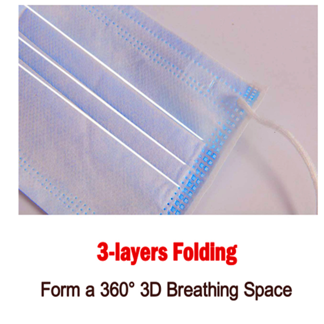 5/100PCS Disposable Protective Mask 3 Layers Dustproof Facial Protective Cover Masks Maldehyde Prevent Anti-pollution face Masks 3