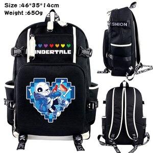 Холщовый Рюкзак для игр, черный школьный ранец на молнии, дорожная сумка для ноутбука, мультяшная сумка на плечо