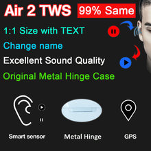99% Same Superpods Air2 TWS 2 Wireless Bluetooth Earphone with TEXT Metal Hinge Super Bass Earbuds PK i10 i99999 Plus i90000 MAX(China)