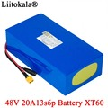 LiitoKala 48V 20ah 13s6p Lithium-Akku 48V 20AH 2000W elektrische fahrrad batterie Gebaut in 50A BMS XT60 stecker