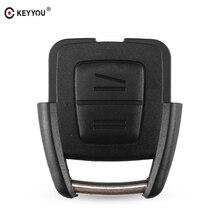 KEYYOU, 2 кнопки дистанционного ключа для автомобиля, корпус для Vauxhall Opel Astra Zafira Omega Vectra, без чипа, не режущий клинок, автомобильный чехол для ключей, чехол для автомобиля