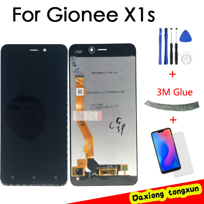 100% Tested For Gionee X1S LCD Display +Touch Screen Digitizer Assembly Pantalla For Gionee X1S Display LCD Screen Free Shipping