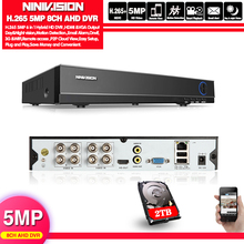NINNIVISION DVR 8CH Camera 5MP TVI/CVI/AHD/IP/CVBS 5 in 1 DVR NVR Digital Video Recorder CCTV Security System Surveillance xvr 16ch channel cctv video recorder 1080p hybrid nvr ahd tvi cvi hi3521a 8ch dvr 16ch 1080n 5 in 1 xmeye p2p dvr freeshipping