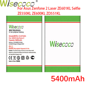 WISECOCO 5400mAh C11P1501 Battery For Asus Zenfone 2 Laser Zenfone2 Laser ZE601KL Selfie ZE550KL ZE600KL ZD551KL Mobile Phone image