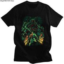 Столкновении богов Ктулху футболка для Для мужчин 100% хлопок