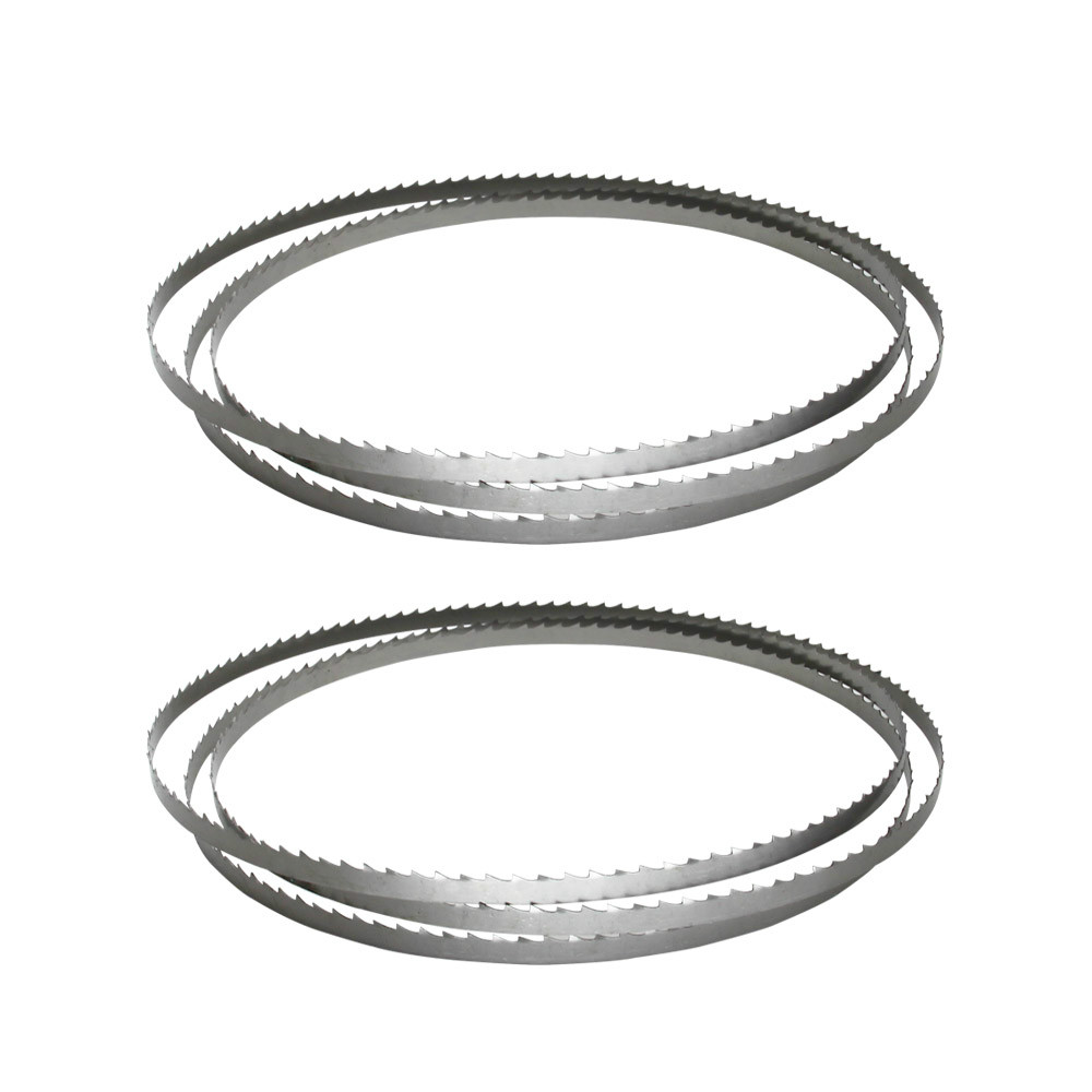 Livter 2pcs Wood Band Saw Blade 1400 X 6.35 X 0.35mm Bandsaw Blades Woodworking Tools For Wood Cutting TPI 6 10 15