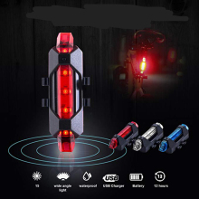 Велосипедный светильник перезаряжаемый светодиодный задний светильник USB безопасность заднего хвоста Предупреждение велосипедный светильник портативный флэш-светильник супер яркий