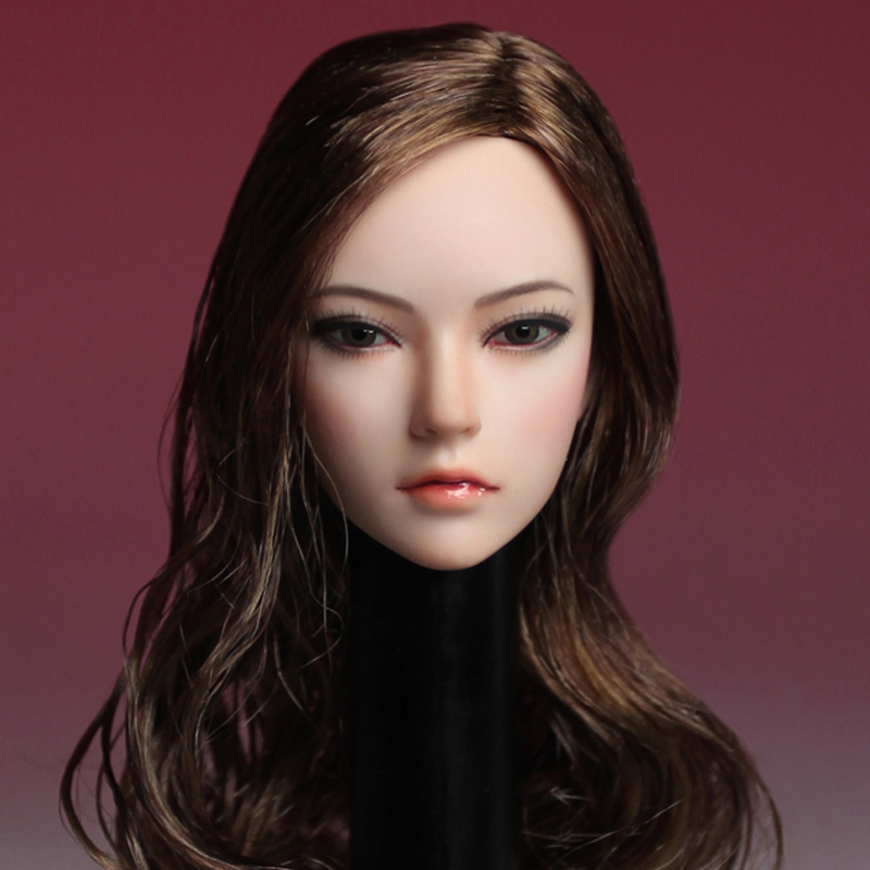 "KIMI TOYS 1:6 Beauty Female Head Sculpt KT005 Girl Head F 12/"" PH Figure"