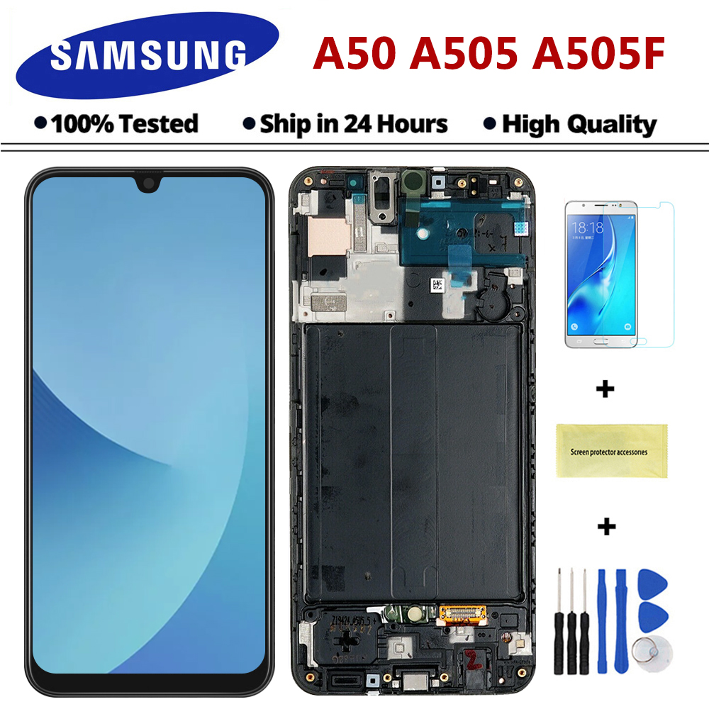 Samsung Digitizer-Assembly Display Touch-Screen A505F for Galaxy LCD title=