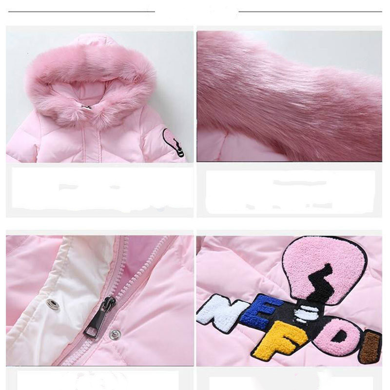 Image 4 - Girls Cotton padded Outerwear    Coats 2019 Autumn Winter Children Warm Clothes Princess Girls Faux Fur Collar Jacket Age 5 13 T-in Down & Parkas from Mother & Kids