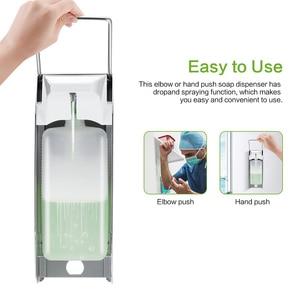 Image 4 - Liquid Soap Dispenser Elbow Press Disinfectant Dispenser Wall Mounted Soap Pumps Soap Dispenser For Home School Hotel Hospital
