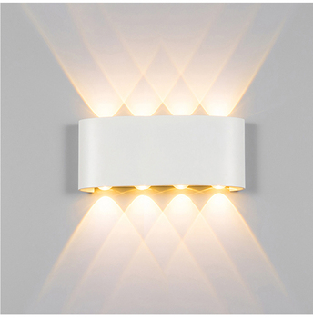 Wall Lamp Led Aluminum Outdoor Indoor Ip65 Up Down White Black Modern For Home Stairs Bedroom Bedside Bathroom Light