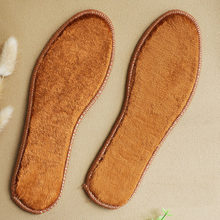 Winter Imitation Wool Warm Insoles For Women Men Breathable Sweat-absorbent Deodorant Plush Thick Cotton Insoles Pad Shoe Soles(China)