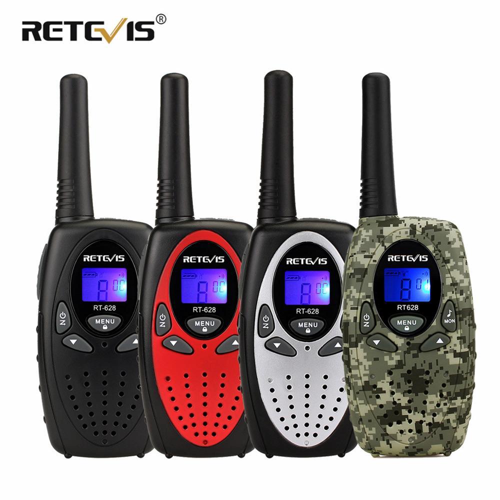 2pcs RETEVIS RT628 Mini Walkie Talkie Kids PMR Radio 4Colors 0.5W 8/22CH PMR PMR446 FRS/GMRS VOX 2 Way Radio Gift Toy Walk Talk