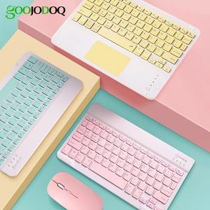 Клавиатура для iPad 7 поколения 10,2 9,7 дюйма, Bluetooth-клавиатура Pro 11 Air 3 Pro 10,5 Air 2 с мышью для планшета samsung Android 아아패air 드 iPad
