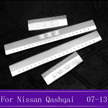 Stainless Steel Scuff Plate Door Sill Welcome Pedal Protector Stickers Accessories For Nissan Qashqai J10 2007 2008 2009-2013 fa