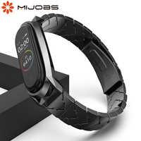 Mi jobs mi band 4 Strap Metall Armband für Xiaomi mi Band 4 3 Strap Schraubenlose Edelstahl mi band 3 Handgelenk Band Smart-Armband