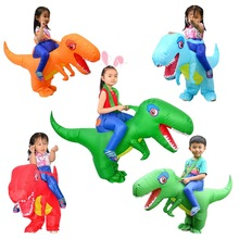 Halloween Adult Children Kids Inflatable Ride Dinosaur Dragons Costume Cosplay Outfit Party Carnaval Amazing Fantasy Gift