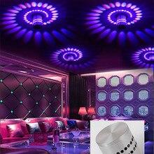 Современный светодиодный потолочный светильник, 3 Вт, RGB, для крыльца, с поверхностным креплением, заподлицо, светильник, для балкона, коридоров, декор для гостиной