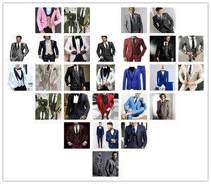 Image 5 - Mens חליפות (מעיל + מכנסיים) מקרית מעצב קיץ חוף חתונה כחול בלייזר לבן מכנסיים 2 חתיכות רחוב נשף הטוב ביותר M