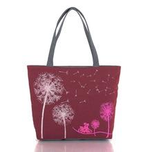 цена на Fashion Dandelion Canvas Bag Flowers Women Handbag Shoulder Bags Women Messenger Bags New