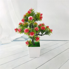 Bonsai Artificial Flower Small Tree Fake Plants Flowers With Pot Home Decor Ornaments Decoration