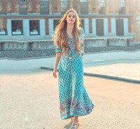 Women's Floral Long Maxi Dress Regular Sleeve Evening Party Autumn Rainbow Striped Beach Dresses