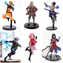 Figuras de acción de Naruto Sasuke Sakura Jiraiya Minat, juguete de modelos coleccionables, regalo de la serie de Naruto, Madara Kakashi