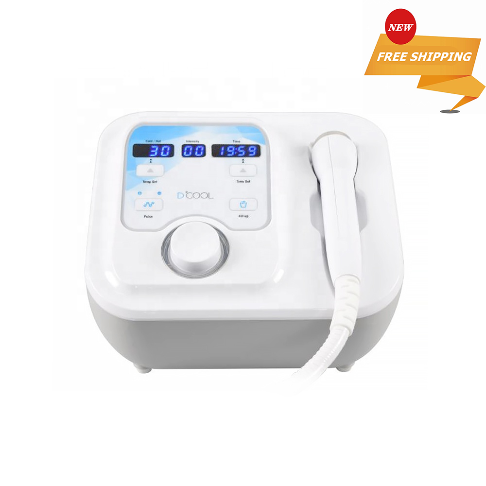 Portable Dcool For Skin Tightening Anti Puffiness Facial Heating Cooling And Electroporation Machine image
