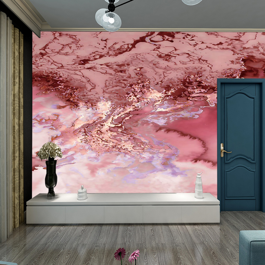 Pink Marble 3d Photo Mural Wallpaper Wall Paper Papers Home Decor Wallpapers For Living Room Bedroom Murals Rolls Peel And Stick Wallpapers Aliexpress