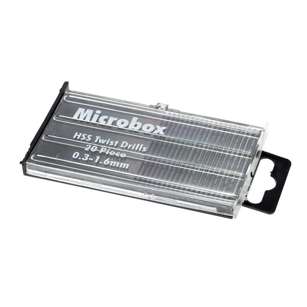 High Speed Steel Twist Drill Bit Small Drill Diameter 0.3-1.6 Mm Strong Hardness High Speed Steel Durable 20 Pcs