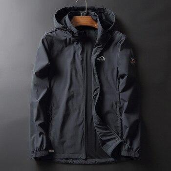 Autumn Men Leisure Jacket Big Size Men's Wear Loose Sports Coat plus Plus Fat Outerwear Printing Clothes