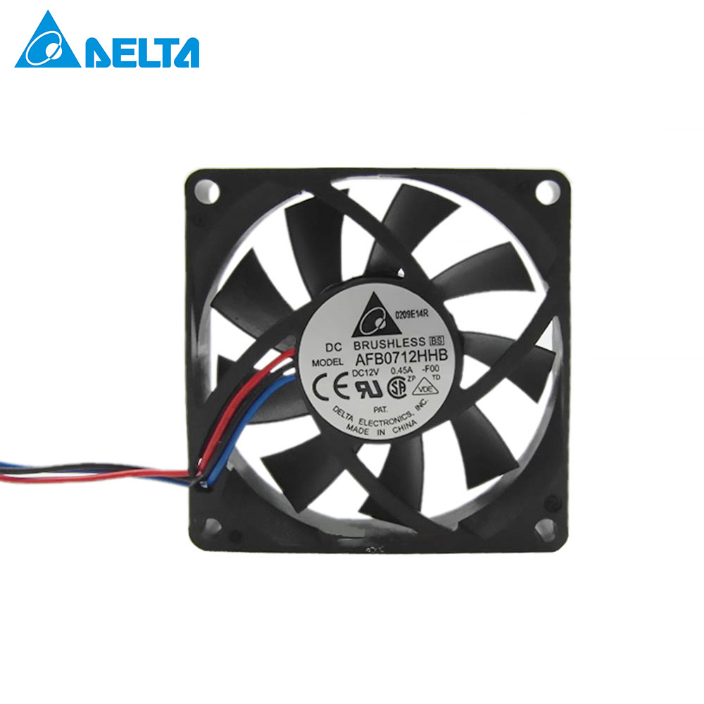 for delta AFB0712HHB 7015 7 <font><b>CM</b></font> 70mm chassis CPU cooling <font><b>fan</b></font> <font><b>12</b></font> v 0.45 A AFB0712HHB ball 70x70x15mm image