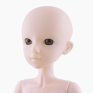 Image 5 - חדש 60cm Bjd בובת צעצועי 3D עיני DIY קירח ראש עירום עירום 21 מפרקים גוף נשי בובת גלוי ראש בובות צעצוע עבור בנות