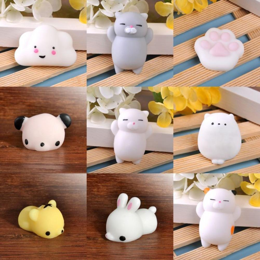 Cute Soft Rabbit Pig Cat Animal Stress Relief Squeeze Toy Decompression Kids Gift