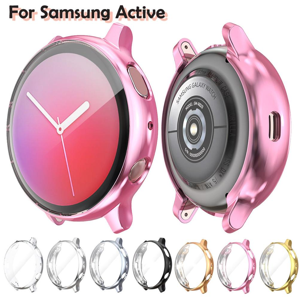 Screen Protector Case For Samsung Galaxy Watch Active 2 Ultra-thin Soft Silicone Full Protection Cover For Galaxy Active 40/44mm