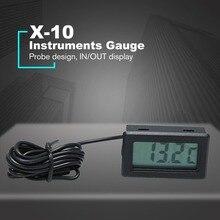 X-10 Digitale Embedded thermometer elektronische temperatur Tester meter Instrumente Gauge mit sonde Aquarium Kühlschrank