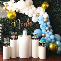 wedding kids party stage backdrops cylinder column large arch for flower balloons dessert table tall cake stand pillar holders