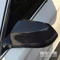 Fibra de carbono f10 substituir tampa do espelho do carro guarnição para bmw f10 2014-2016